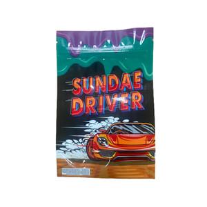 Bolsas RUNTZ Sundrae Driver Biodegradable Soporte de pie Olor Spell Proof Block Bag 420 Embalaje 3 5G Mylar Bolsas