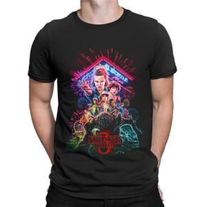Neue Sommer-T-Shirt Fremder Things Men Staffel 3 T-Shirt Männer 3D seltsamere Dinge T-Shirt Hipster-T-Shirts Sport T-Shirt Hoodie drucken