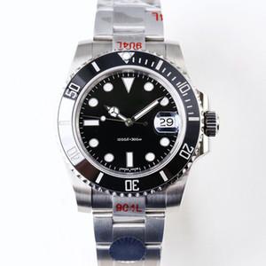 N Top Männer Automatische mechanische Uhren 904L Edelstahl ETA 2836 ETA 3135 Bewegung Keramikrahmen Leuchtende Watch DHL Freies Verschiffen