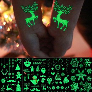 decoración de 21x15cm familia fondo de pantalla pegamento impermeable tatuaje brillante etiqueta de Navidad