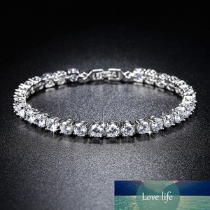 New Arrival Luxury 925 Sterling Silver Tennis Bracelet Bangle for Women Anniversary Gift Jewelry Wholesale Moonso S5446