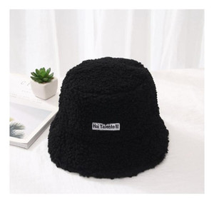Fashion Winter Hat For Women Fur Bucket Warm Caps Letter Panama Black White Vintage Fisherman Buc qylYoe