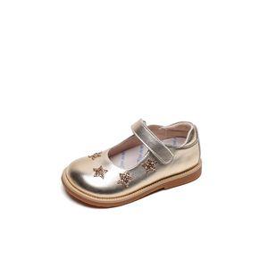 Kids Shoe Girls Outono Nova Princesa Sapatos Únicos Meninas Patente Couro Princesa Britânica Couro Retro Bebê Sapatos