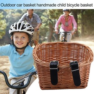 Hand woven outdoor ecological basket, children's bicycle basket