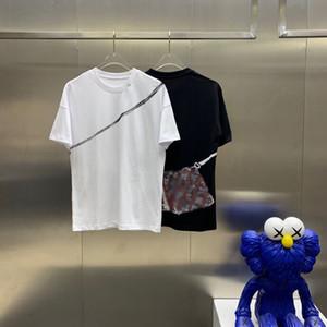 2021SSS Spring and Summer Nueva moda Cuello redondo T-shirt T-shirt OS suelto Casual Mujer Camiseta de alta calidad para hombres Mangas cortas de los hombres S009