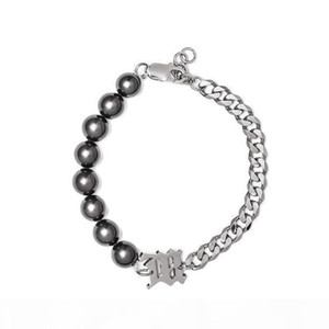 Misbhv 2020ss latest high quality black pearl chain stitching bracelet fashion personality men and women Jewellery Necklace