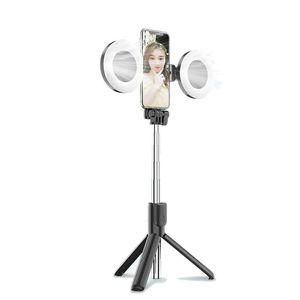 LED ملء حلقة ضوء التصوير ringlight مع طوي ترايبود لاسلكية بلوتوث عصا selfie ل youtube فيديو