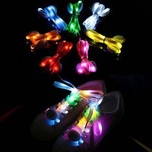 Led Luminous Lighted Up Shoelaces Hip Hop Shoelaces Lighting Flash Light Up Sports Skating Led Shoelace