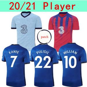 Игрок версии 2021 Футбол Джерси # 10 Pulisic # 22 Ziyech # 29 Havertz Мужчины Дом домой 3-й Футбол Рубашка Подгонянная футбольная форма