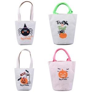 4 шт / набор 2020 новый джута Halloween Tote Bag праздник украшения Хэллоуин конфеты сумка Хэллоуин подарок мешок T3I51232