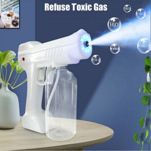 Handheld Wireless electric nano atomization disinfection spray gun 800ml blue ray powerful sanitizer spray machine home use DHL Free Shippin