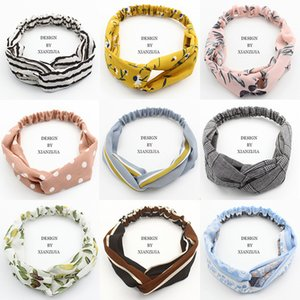Young and Beauty Women Girls Bohemian Hair Bands Print Headbands Cross Knot Turban Bandage Bandanas HeadBands Hair Accessories Wedding Favor