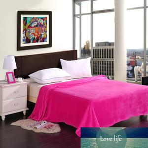 CORALLO FLUFFY marchio lana cotone BED TESSUTO ON per il letto GIOIOSA WEDDING SOLIDI COPERTE caldo colore rosa rosso COPERTA