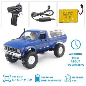 B-14 1 16 2.4GHz RC Crawler Off-road Military Truck Car with Headlight RTR Automatic Vehicle Toys Car for Children Gifts HOT! 201218