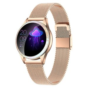 KW20 Women Smart Watch 2020 IP68 Waterproof Heart Rate Monitoring Bluetooth Fitness Bracelet Smartwatch For IOS Android Xiaomi