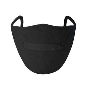 Топ продавец Творческий Zipper маска молния дизайн Легко пить моющийся многоразовый Перекрытия Защитные маски Дизайнер KKF2224