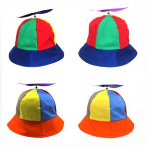 шляпа nV367 Propeller затенения цвета радуга бассейна Ковш Propeller рыбак колпачок бамбук стрекоза Корейский WindMill рыбак с Чиль