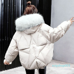 Winter Oversize Winter Puffer Jacket for Women Outerwear Womens Parkas Fur Hooded Cotton Padded Female Coat Warm Outwear
