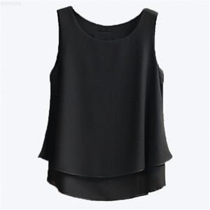 ärmelloses hemd 2020 neue ankunft banerdanni chiffon frauen sommer lässig o-neck blusen hochwertige frauen bluse y200622 b1au #