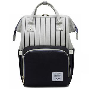 Fashion Mummy Diaper Bag Stripe Mommy Backpacks Large Capacity Travel Maternity Women Bags Baby Care Nursing Diaper Bag