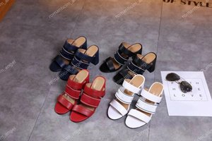 Hot new slope with the ladies sandals summer Korean version of the comfortable fashion wild diamond rough with high-heeled high heels35-40