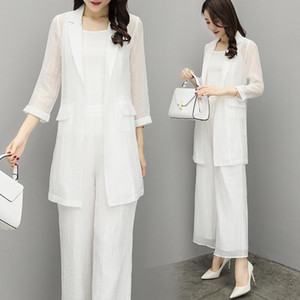 Chiffon Pant Suits For Mother of the Bride Groom Women Party Wedding Guest Formal White Elegant 2 Piece Set Pantsuit Outfits