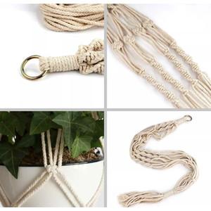 Plant Hangers Macrame Rope Pots Holder Rope Wall Hanging Planter Hanging Basket Plant Holders Indoor Flowerp bbyuzk bde_luck