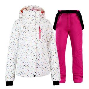 Costume de ski imperméable 2020 pour femmes pour skier Snowboarding Hiver Sports de plein air Snowboard Snowboard Veste Bib Pants Set