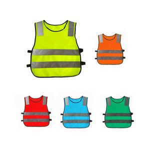 Kids Reflective Vest Yellow Fluorescent Safety Vests High Visibility Clothing for Children Safe Traffic Student Security Clothes