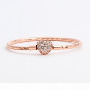 Hot CZ Diamond Bracelet for Designer 925 sterling silver plated rose gold temperament high quality ladies bracelet with original box