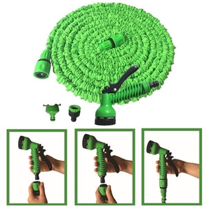 Wholesale Plastic Retractable 125FT Lengthen Set 2 Colors Car Washing Hose With Multi-function Water Gun DH755-4 T03