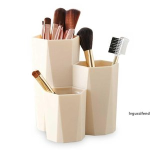 3 Grids Cosmetic Make-up Brush Storage Boxes Desktop Organizer Makeup Nail Polish Cosmetic Holder Make Up Tools Pen Holder Rack T200301