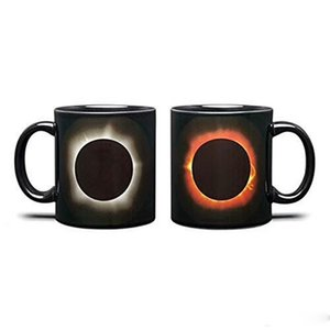 Solar Eclipse Heat Changing Ceramic Mug Coffee Tumbler Fashion Hot Water Cup Home Decor Drink Tools New 16jk ii