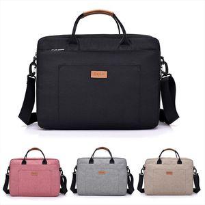 Black Women Men Canvas Briefcase 16 inch Laptop Shoulder Bag For Female Male Handbag Business Computer Bag Travel Large Tote