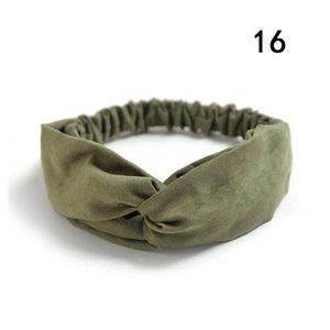 Gamuza gamuza turbante mujer banda de pelo arcos elásticos Headkerchief Sport Hairbands Head Band Nudo Diadema para niñas Headwear Headwrap Q Jllaiz