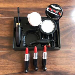 Hot 6in1 Рождественские макияжные наборы наборы помады лица порошок BB CC Cream водонепроницаемые тушь для подводки для глаз 6in1 Makeup