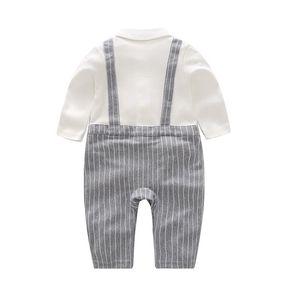 Childrens Clothing 18-Year Autumn New Jumpsuit Halter Romper Baby Gentleman Dress Outfits Baby Halter Romper