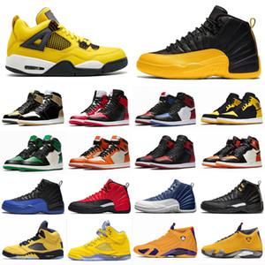 2019 Mens 9 11 12 14 Tênis De Basquete Bumblebee Amarelo Preto Pacote De Designer Retro Sneakers Cestas 11s 5s des Chaussures Schuhe Tamanho 13