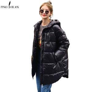 Pinkyisblack новый длинный с капюшоном Parkas зимняя куртка женщин теплый толстый пуховик пальто женское длинное зимнее пальто женская одежда 201022