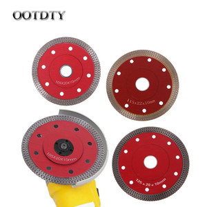 1pc New Red Hot Pressed Sintered Mesh Turbo Ceramic Tile Granite Marble Diamond Saw Blade Cutting Disc Wheel Bore Tools