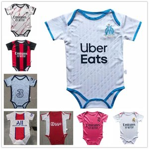 Марсель Аякс Джерси ребенка 2020 Реал Мадрид 2 звезды MBAPPE ребенок футбол Джерси 2020-2021 6-18 месяцев рубашка футбола