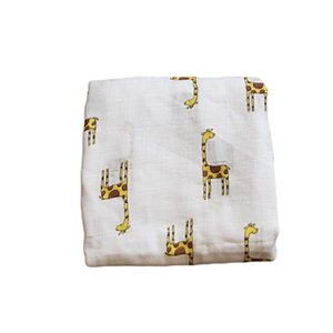 Baby Swaddling Blanket Wrap Double Layer Bath Towels Toddle Bamboo Fiber Bathroom Robes Swaddle Pajamas Gauze Stroller Cover GWB5351