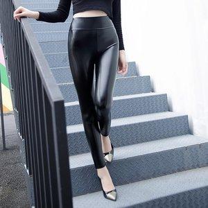 PU Deri kadın Pantolon Yüksek Bel Tozluk Boyutu Siyah Kalem Pantolon Kadın Artı Boyutu Seksi 4XL 5XL Güz 2020 Moda