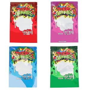 Dank gélifiés Cookie Sac humide Sac en plastique comestible PPackage Sac d'emballage Worms comestibles Ours Cube Sacs d'emballage en gros