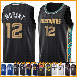 Ja 12 Morant MemphisGrizzliesNew basketball Jersey MEN 2021 New Grizzlie Jayson 0 Tatum Zion 1 Williamson Jamal 27 Murray Jokic