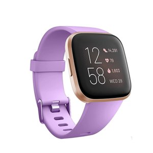 Honecumi Silicone Straps Accessory Purple bracelet For Fitbit Versa Versa 2 Smart Watch Fitness Replacement Bands