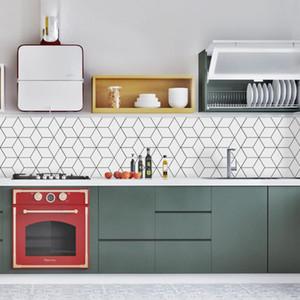10Pcs Bathroom Self Adhesive Mosaic Tile Sticker Waterproof Kitchen Backsplash Wall Sticker DIY Nordic Modern Home Decoration