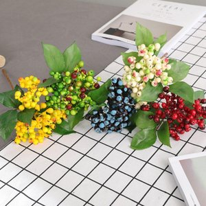 Artificial Silk Flower Berry Branch Fake Plant American Shooting Prop Fake Flower Fruit Home Decoration Single Happy Berry Decor
