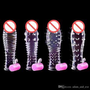 Erwachsene Geschlechts-Produkte Männer für Penis Penis Extender Spike Ring Ring Toys Erweiterung Cockrings Sex Sleeve Wiederverwendbare Penis Ngmls