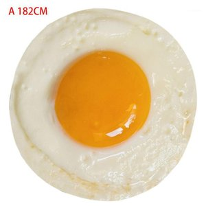 Soft Round Flannel Blanket 122cm 152cm 182cm 1PC Poached Egg Comfort Realistic Novelty Throw Blanket Round Blankets 0411#301
